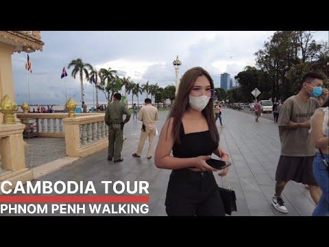 Cambodia 2021 in Phnom Penh City walking tour
