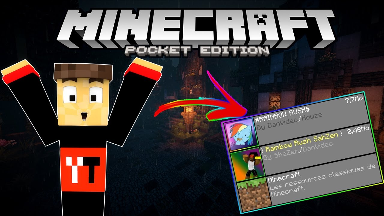 Minecraft PE : Tuto télécharger des TEXTURES PACKS/MAPS/ADD-ONS (mods) IOS/Android ! [ FR 1.0 ...