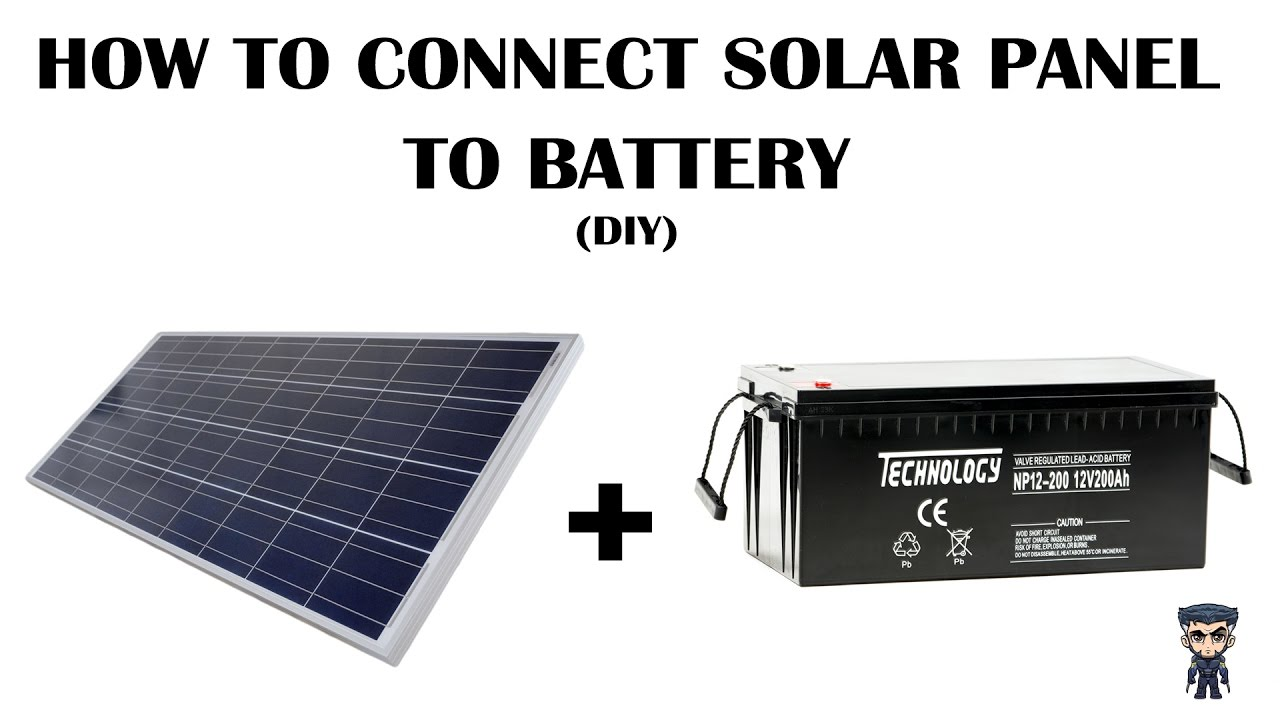 how to connect solar panel to a battery via a charge controller diy  [ 1280 x 720 Pixel ]