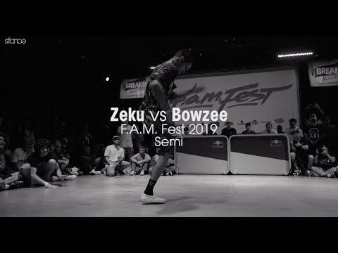 Zeku vs Bowzee [Semi] // .stance // F.A.M. Fest 2019