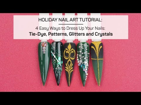 Holiday Nail Art Tutorial: 4 Easy Ways to Dress Up Your Nails