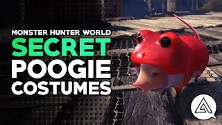 Monster Hunter World | How to Find the Secret Poogie Costumes