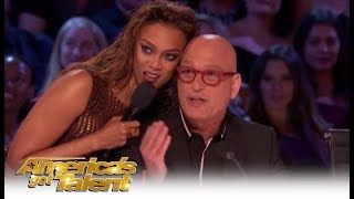 Tyra Banks & Howie Mandel Talk FACIAL HAIR and It Gets Real Weird | America's Got Talent 2018