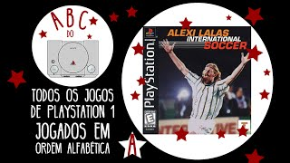 Alexi Lalas International Soccer - Gameplay comentado em português [ABC do PS1]