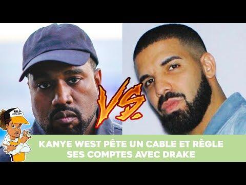Kanye West péte un câble et règle ses comptes avec Drake