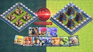 Who will win🔥X-BOW VS MEGA TESLA🌠who can survive this trap🎉clashofclans🌹unity clash😘