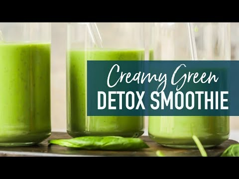 Creamy Green Smoothie Recipe - Green Detox Smoothie