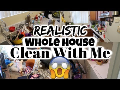 REALISTIC Clean With Me /Whole House Cleaning / Cleaning Motivation / Power Hour /