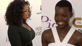 Oprah And Lupita Nyong'o On Critics Choice Red Carpet