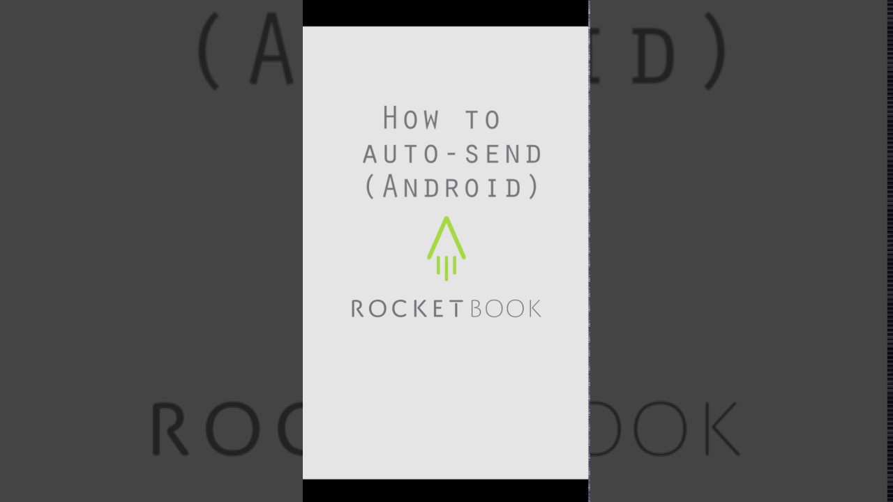 rocketbook  Rocketbook App: How to Auto-send - YouTube