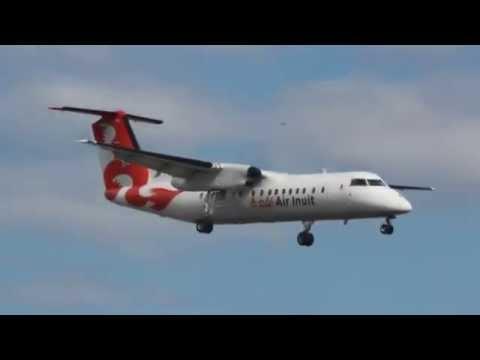 Air Inuit Dash 8-311 Landing At Montreal/Yul Airport