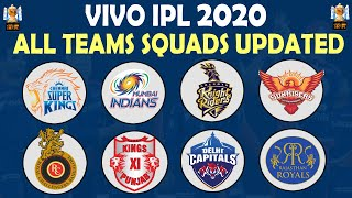 IPL 2020 | All Teams Squads Updated | All Teams Full Player List | CSK RCB MI DC KKR SRH KXIP RR