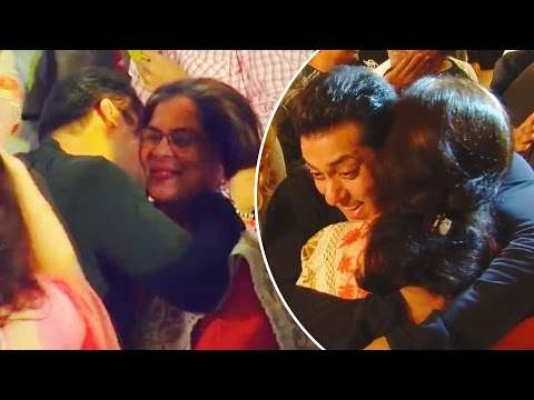 Salman Khan Meets His On Screen Mom Reema Lagoo & HUG