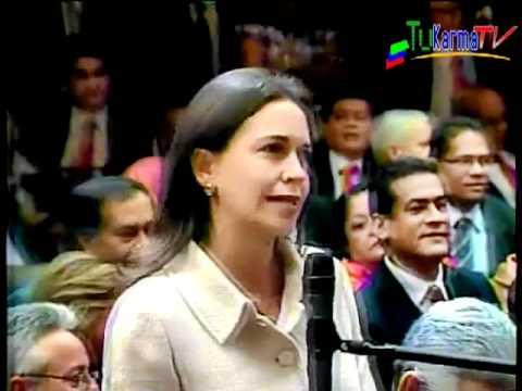 María Corina llama ladrón a chavez en cadena nacional