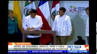 Mandatarios de Chile, Colombia, México y Perú reunidos en NY para analizar  Alianza del Pacífico
