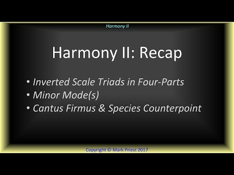 Harmony II: Recap