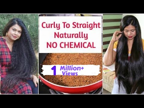 3 Best Ways To Permanently Straighten Hair At Home| NATURAL, NO Chemical |  Sushmita's Diaries