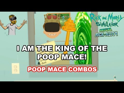 POOP MACE COMBINATIONS! | Rick and Morty Simulator: Virtual Rick-Ality