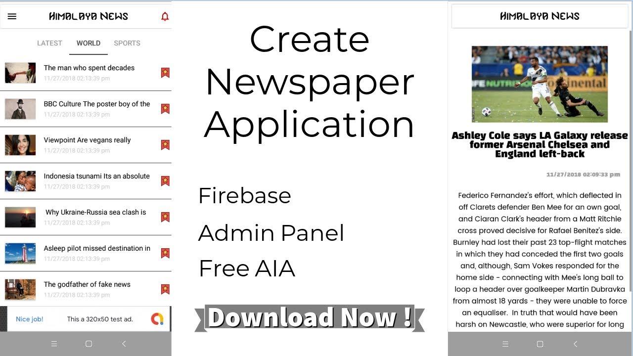 Create a News Application using Kodular/Thunkable/Appybuilder
