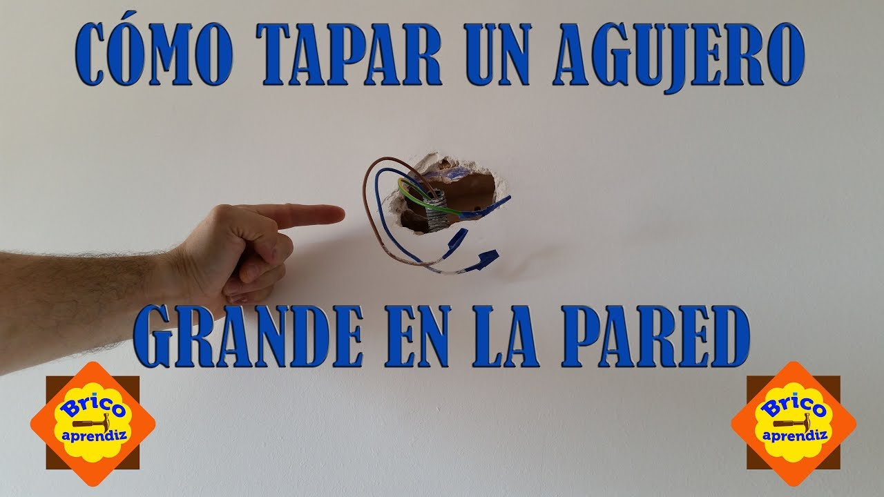 Diy c mo tapar un agujero grande en la pared youtube - Como empapelar una pared ...