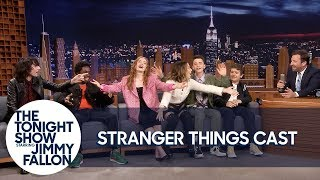"Download The Stranger Things Cast Teaches Jimmy the ""Chicken Noodle Soup"" Song Mp3 and Videos"