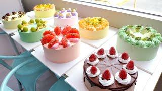 Как делают торты со свежими фруктами   Корейский десерт