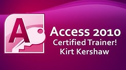 Microsoft Access 2010: Tutorial for Beginners Part 1
