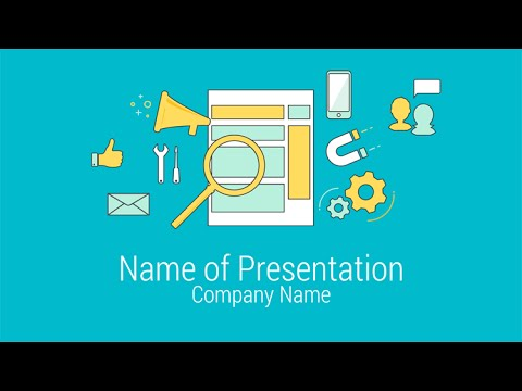 online marketing powerpoint template - youtube, Modern powerpoint