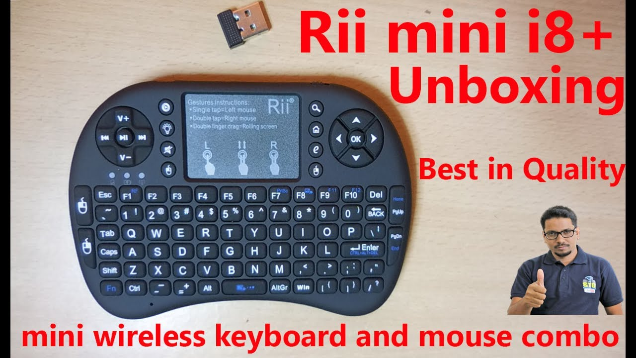 9ae9045680a Hindi || Rii i8+ wireless keyboard & mouse unboxing. - YouTube