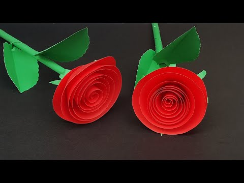 DIY Rolled Paper Roses | How to Make Easy Spiral Paper Flowers | Paper Crafts Tutorial