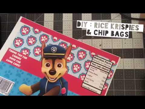 Diy Rice Krispies & chip bag