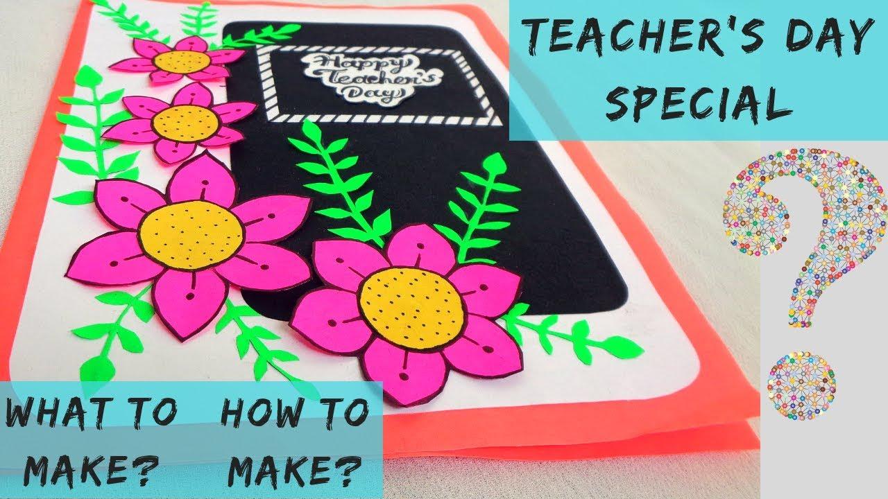 diy teacher's day card  easy paper flower card  youtube