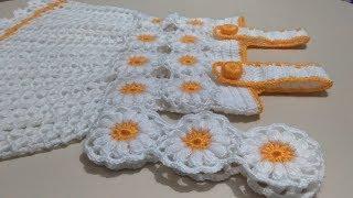 Papatya Desenli Bebek Elbise Modelleri 2018