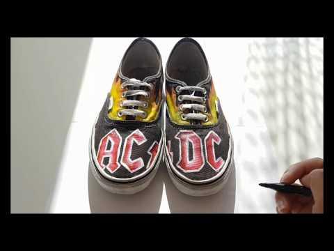 CUSTOM ACDC Vans authentic YouTube