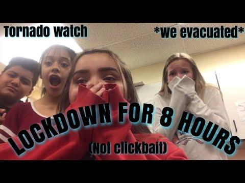 my school was on lockdown for 8 hours+tornado
