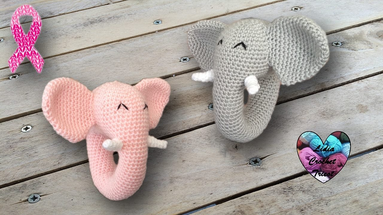 jouet l phant b b amigurumi crochet sonajero elefante. Black Bedroom Furniture Sets. Home Design Ideas
