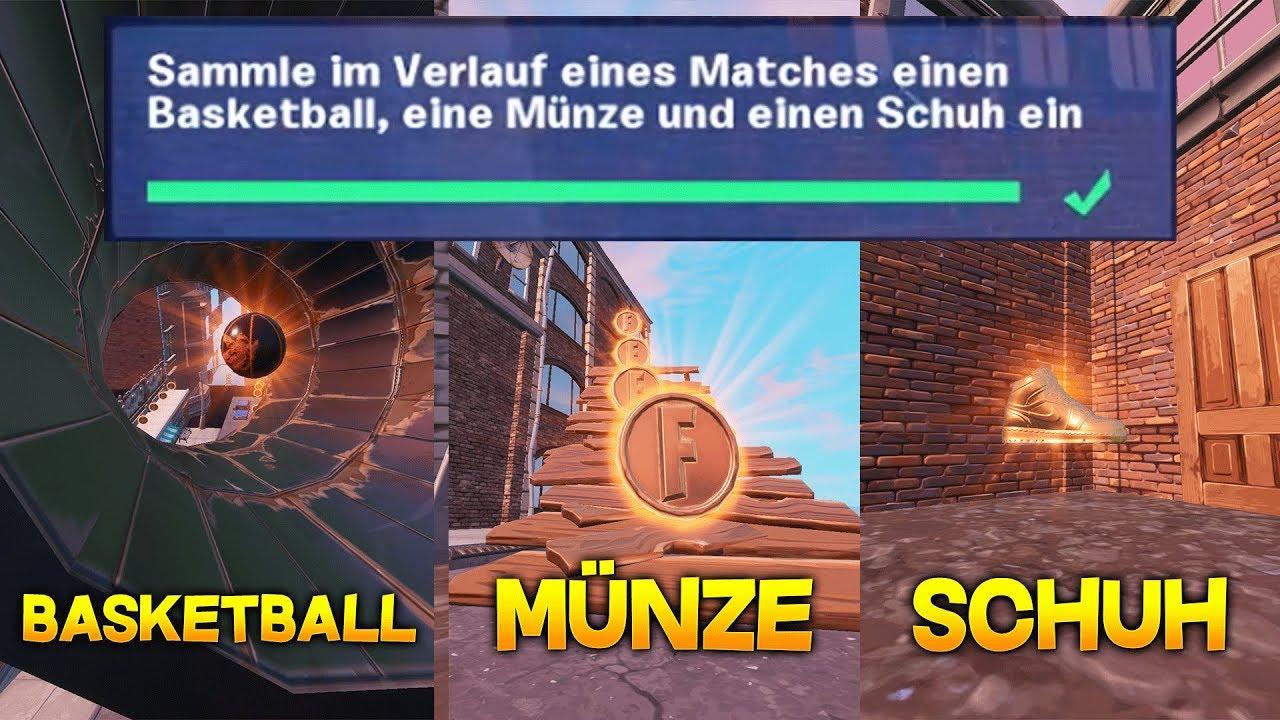 best service 93750 fc4dd City-Chaos: Sammle im Verlauf eines Matches einen Basketball, Münze und  Schuh ein! Fortnite