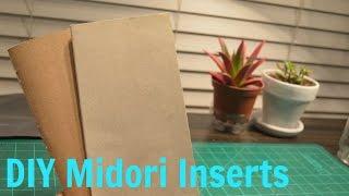 DIY Midori Inserts Calendar & Blank page