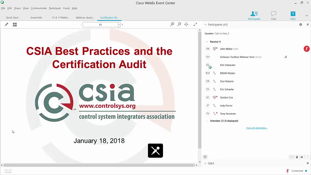 Csia Certification Webinar Youtube