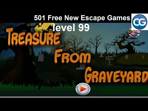 [Walkthrough] 501 Free New Escape Games level 99 - Treasure from graveyard - Complete Game