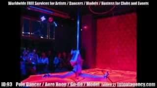 ID-93 (02) Ballerina Pole Dance / Cubista per Locali, Discoteche ed Eventi da intentagency.com