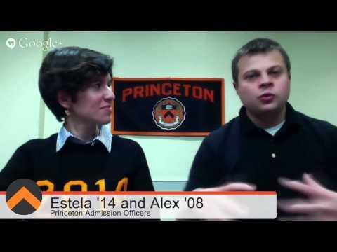 Princeton Undergraduate Admission Google+ Hangout On Air