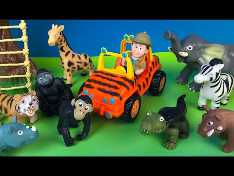 ANIMAL PLANET MEGA WILDLIFE DISCOVERY TOYS FOR KIDS PET ANIMALS RINO TIGER MONKEY ELEPHANT ZEBRA