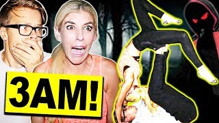 COUPLE'S YOGA AT 3AM CHALLENGE OUTSIDE! ** DO NOT TRY THIS- EXTREMELY SCARY**