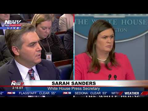 MUST WATCH: CNNs Jim Acosta Is Back At White House Press Briefing