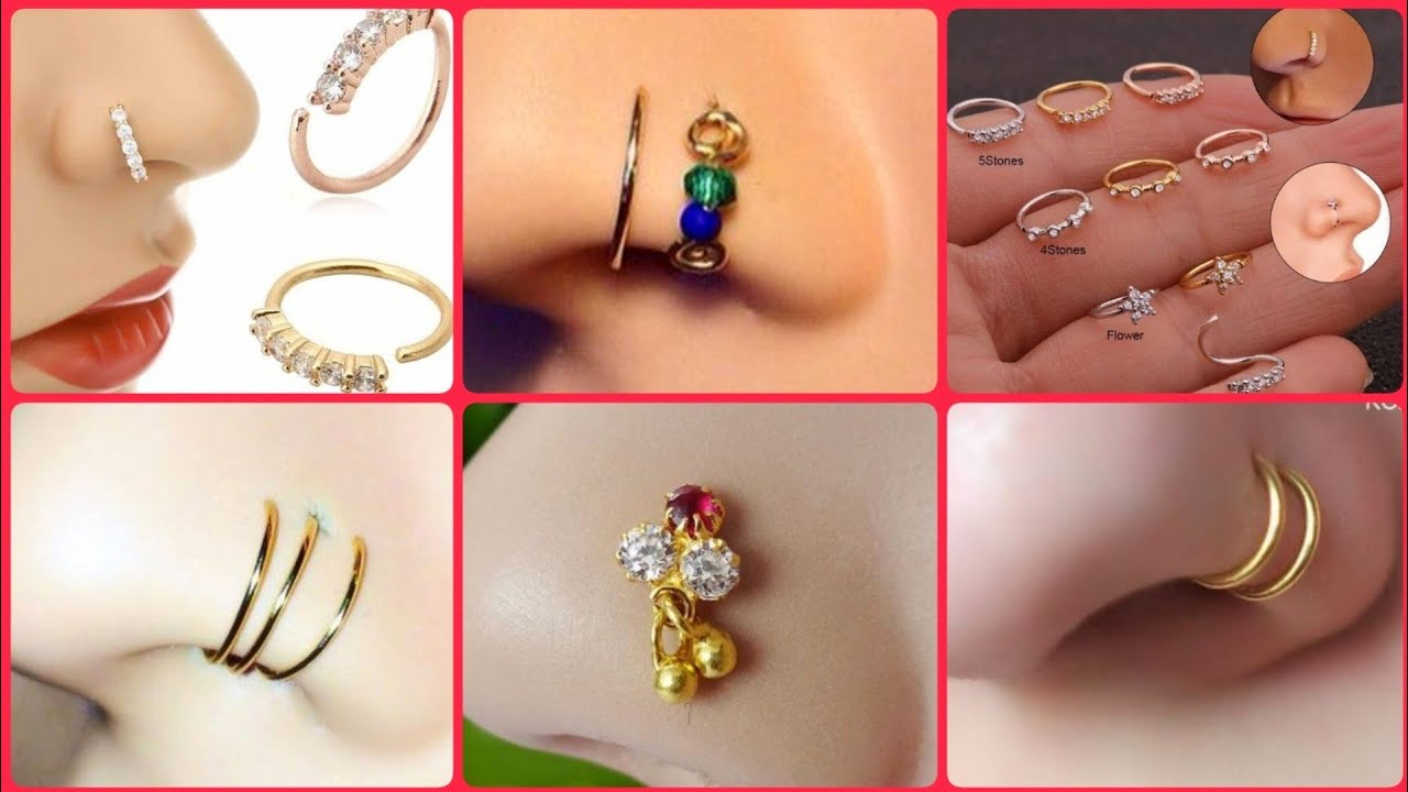 2020 Latest Gold Nose Pin Designs Gold Nose Ring Nose Pin