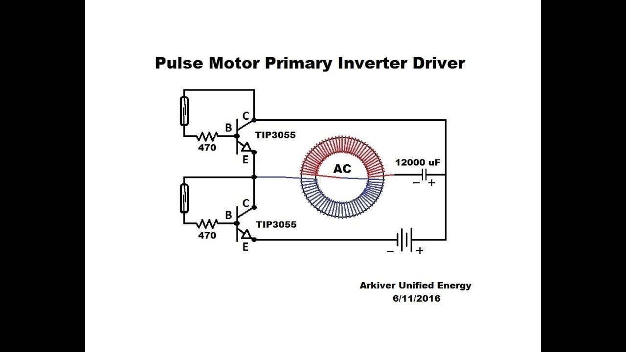 toroid pulse motor primary inverter driver