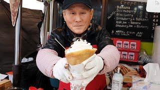 레전드 동대문 크레페, 동대문 할아버지 크레페 근황, Amazing Crepe Skills, Grandpa crepe, Crepe Master, Korean street food