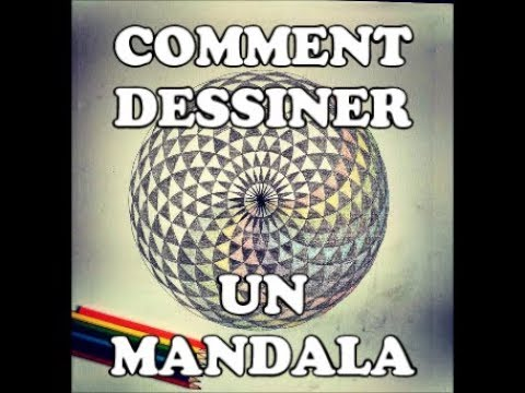comment dessiner un mandala g om trie sacr e youtube. Black Bedroom Furniture Sets. Home Design Ideas