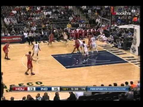 Kevin Martin circus shot and foul vs. Pacers 11/12/2010